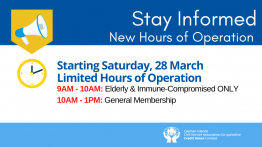 Credit Union to Re-open Saturday, 28 March